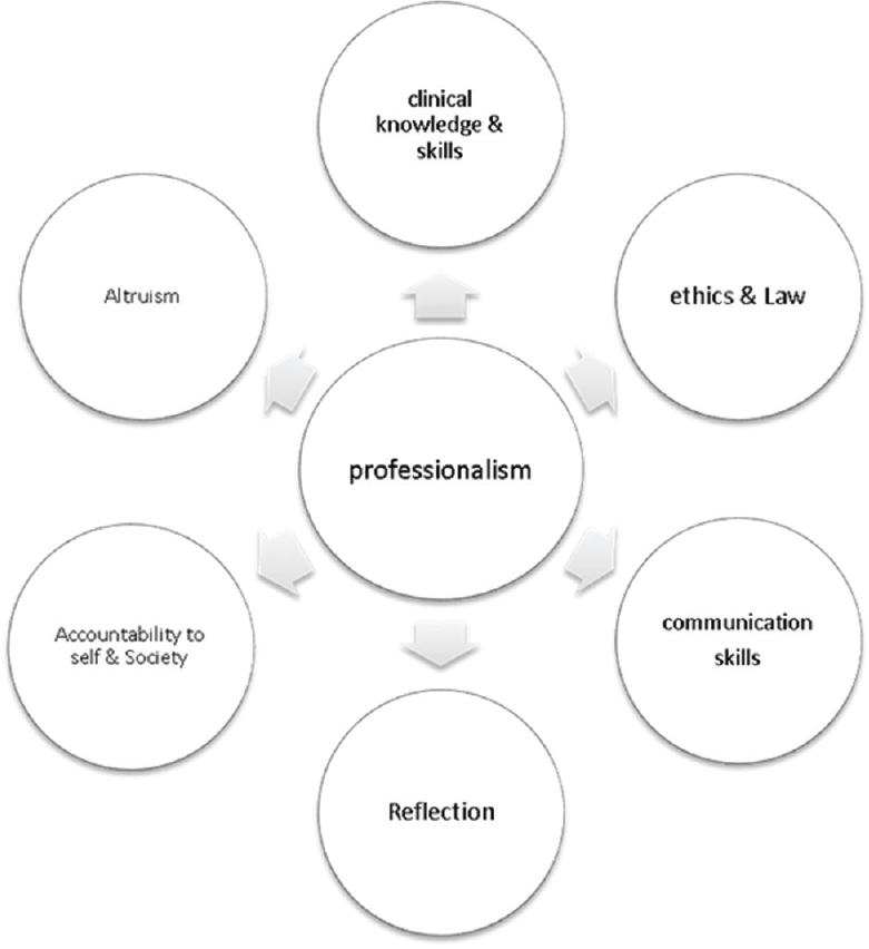 Figure 1: Core competencies of professionalism